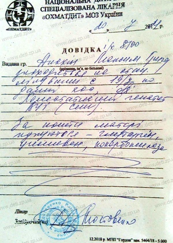 Справка Максим Анохин