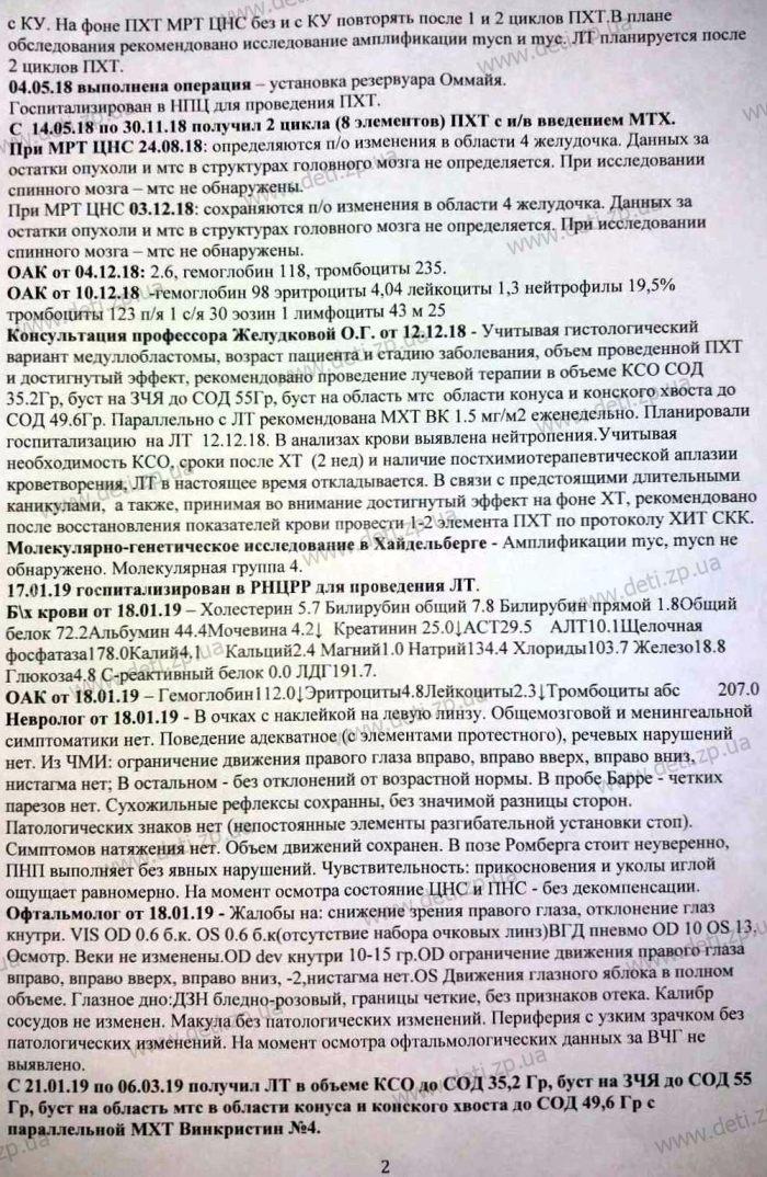 Выписка Артем Галушка